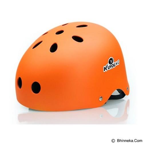 KUYOU Helmet Size M - Orange - Helm Sepeda