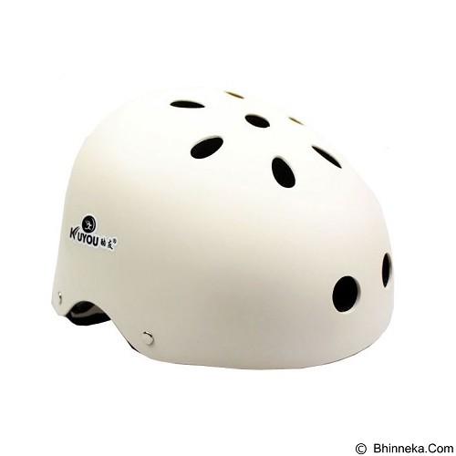 KUYOU Helmet Size M - White - Helm Sepeda