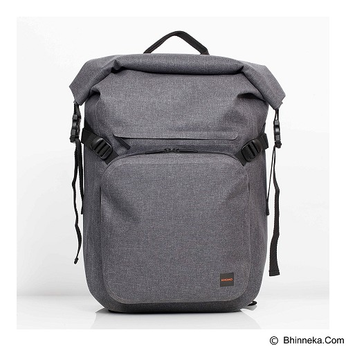 Knomo Hamilton 15 Inch Roll Top Backpack - Grey (Merchant) - Notebook Backpack