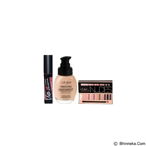 L.A. GIRL Special Package No.2B Eyeshadow Nudes (Merchant) - Lipstick