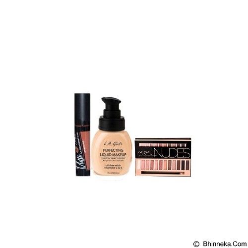 L.A. GIRL Special Package No.2F Eyeshadow Nudes (Merchant) - Lipstick