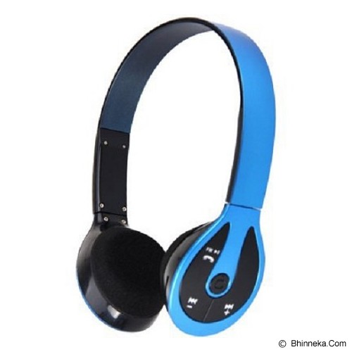 LACARLA Bluetooth Headset Stereo [BH-506] - Blue (Merchant) - Headset Bluetooth