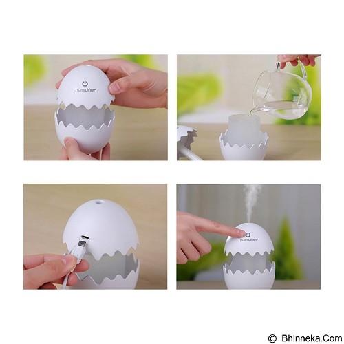 LACARLA Broken Cracked Egg Design Aroma Diffuser Ultrasonic Humidifier Portable - Blue (Merchant) - Air Humidifier