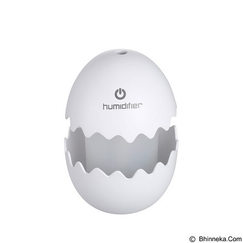 LACARLA Broken Cracked Egg Design Aroma Diffuser Ultrasonic Humidifier Portable - White (Merchant) - Air Humidifier