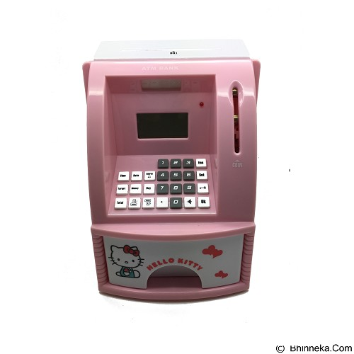 LACARLA Celengan ATM Mini Hello Kitty - Pink - Mainan Simulasi
