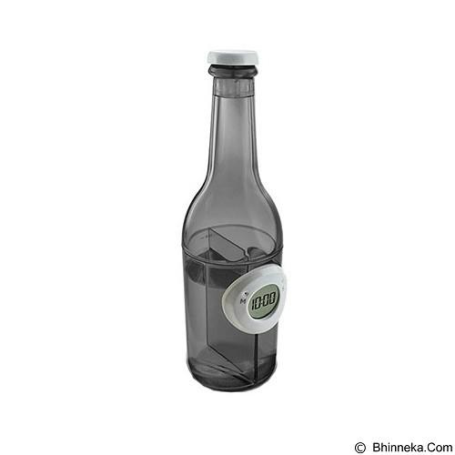 LACARLA Digital Water Power Clock Beer Bottle [ST-1002-J] - Black - Jam Meja