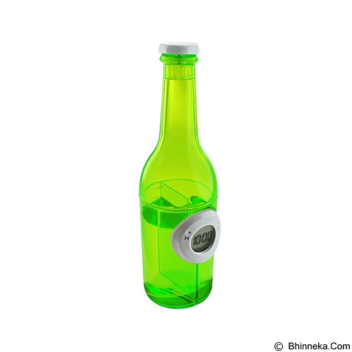 LACARLA Digital Water Power Clock Beer Bottle [ST-1002-J] - Green - Jam Meja