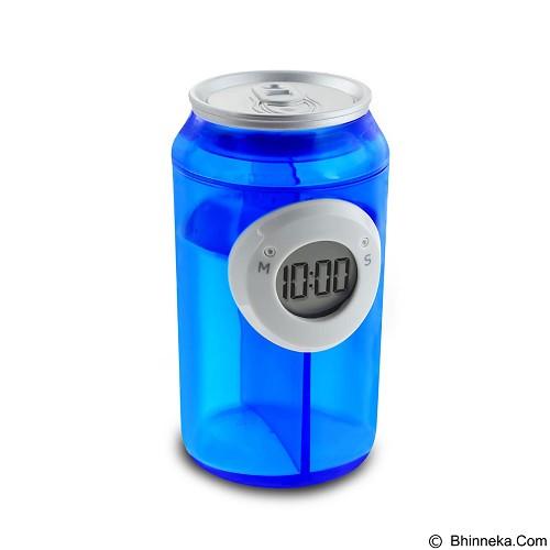 LACARLA Digital Water Power Clock Canned Drink Bottle [ ST-1005-J] - Blue - Jam Meja