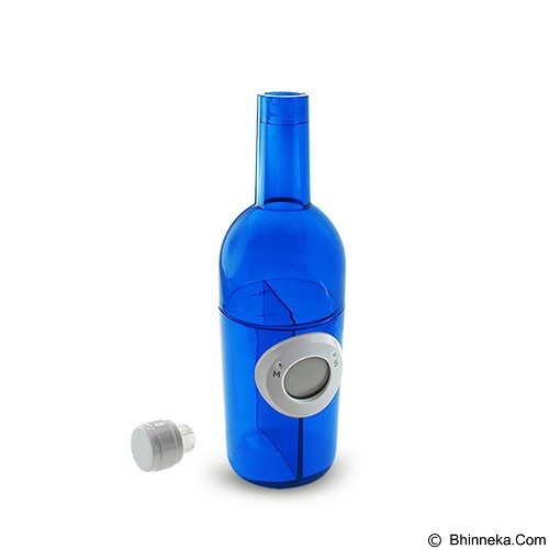 LACARLA Digital Water Power Clock Wine Bottle [ST-1003-J] - Blue - Jam Meja