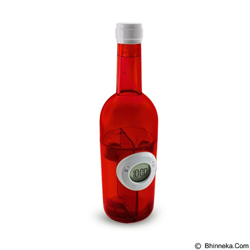 LACARLA Digital Water Power Clock Wine Bottle [ST-1003-J] - Red - Jam Meja