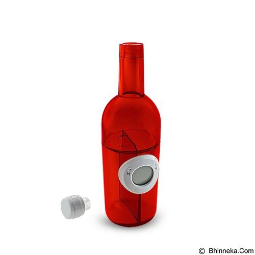 LACARLA Digital Water Power Clock Wine Bottle [ST-1003-J] - Red - Jam Meja