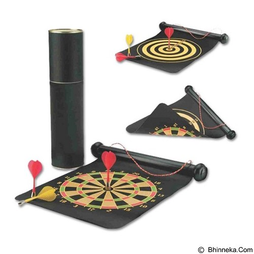 LACARLA Double Sided Hanging Magnetic Dart Board Set Game 15 Inch with 6 Magnetic Arrow (Merchant) - Mainan Tembakan / Dart