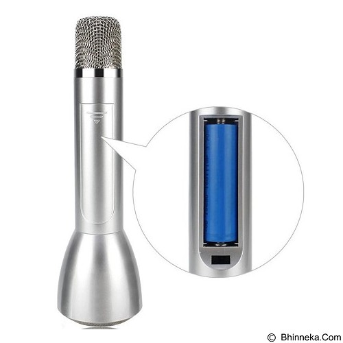 LACARLA Magic Karaoke with Bluetooth Speaker [KTV-K088] - Silver (Merchant) - Microphone Live Vocal