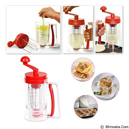 LACARLA Manual Pancake Machine Cake Batter Mix & Dispenser With Measuring Labe - Penggiling Adonan / Dough Roller
