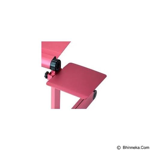 LACARLA Multifunctional Aluminium Alloy Adjustable Portable Laptop Table Stand - Pink (Merchant) - Meja Komputer