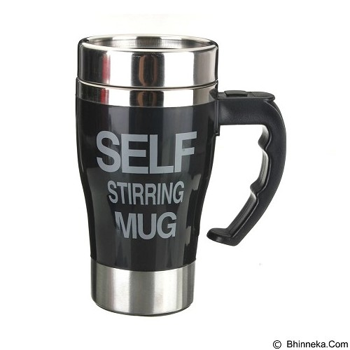 LACARLA New Model Self Stirring Mug 350ml - Black - Gelas