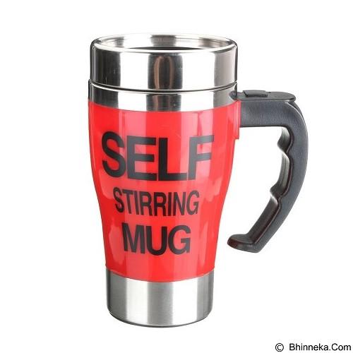 LACARLA New Model Self Stirring Mug 350ml - Red - Gelas