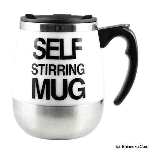 LACARLA New Self Stirring Mug 450ml Big Model - White - Gelas