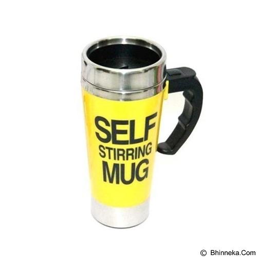 LACARLA New Self Stirring Mug 500ml Slim Model - Yellow - Gelas