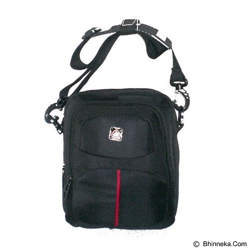 LACARLA Shicata Tas Gaul Tablet [4-2903] - Black Red - Shoulder Bag Pria
