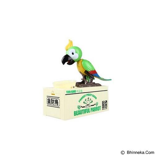 LACARLA Tori Bako Parrot Piggy Bank Celengan Burung Pemakan Koin - Green (Merchant) - Mainan Simulasi