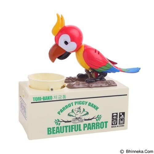 LACARLA Tori Bako Parrot Piggy Bank Celengan Burung Pemakan Koin - Red (Merchant) - Mainan Simulasi