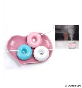 LACARLA USB Donut Humidifier Air Purifier - Pink - Air Purifier
