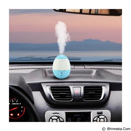 LACARLA USB Portable Egg Shape Tumbler Ultrasonic Cool Mist Humidifier Operation - Blue (Merchant) - Air Humidifier