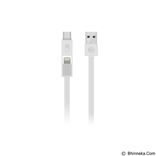 LACARLA WK Design Parker 3 in 1 Fast Charging Data Cable [WDC-012] - White (Merchant) - Cable / Connector Usb