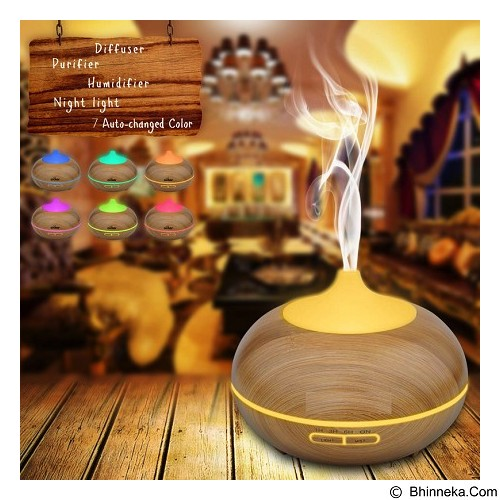 LACARLA Wooden Essential Oil Diffuser Ultrasonic Aroma Diffuser Humidifier 300ml (Merchant) - Air Humidifier