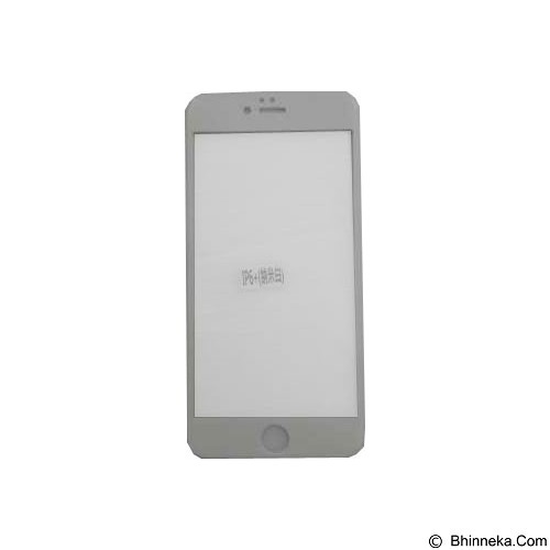 LARISONLINESHOP Tempered Glass for iPhone 6 Plus - White - Screen Protector Handphone