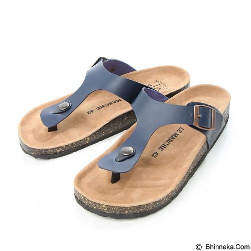 LE MARCHE Sandal Montpellier Size 42 - Navy Blue (Merchant) - Sandal Casual Pria