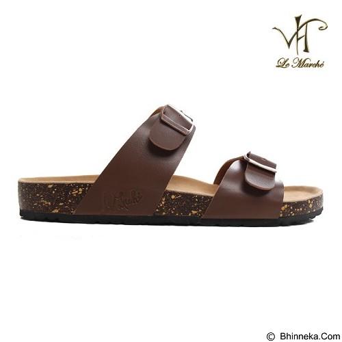LE MARCHE Sandal Nantes Classic Size 42 - Brown (Merchant) - Sandal Casual Pria