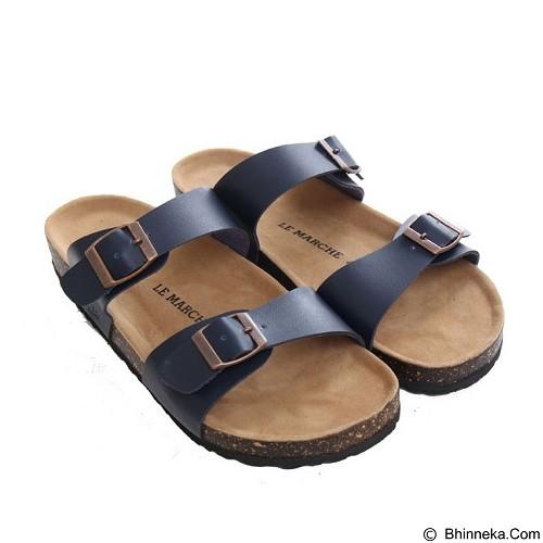 LE MARCHE Sandal Nantes Size 37 - Dark Blue (Merchant) - Sandal Casual Pria