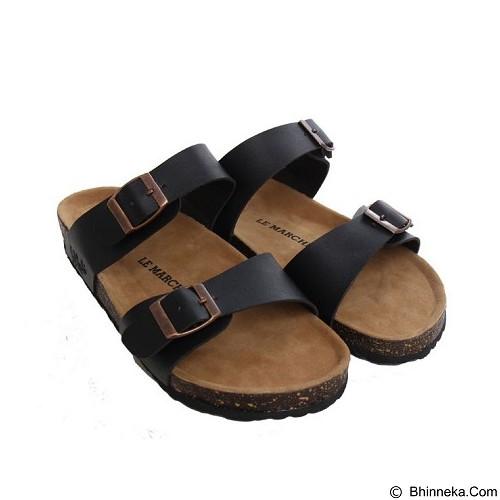 LE MARCHE Sandal Nantes Vintage Size 40 - Black (Merchant) - Sandal Casual Pria