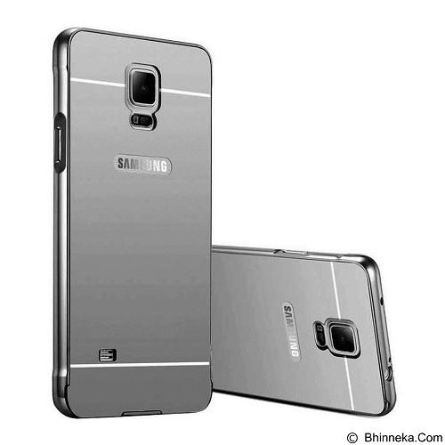 LEGIAN SHOP Case Bumper Slide Mirror Allumunium Samsung Galaxy Note 4 - Silver (Merchant) - Casing Handphone / Case