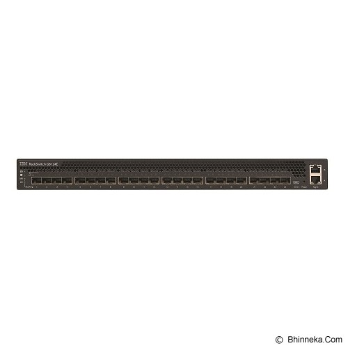 LENOVO System Networking RackSwitch G8124E Rear to Front [7309BR6] - Switch Managed