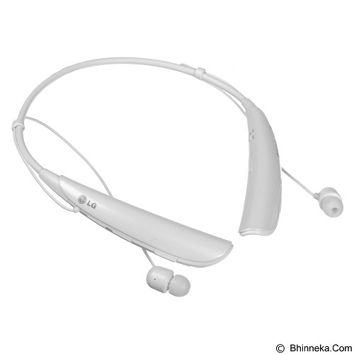 LG Bluetooth Stereo Headset Tone Pro [HBS 750] - White (Merchant) - Headset Bluetooth