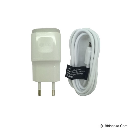 LG Travel Charger 1.8A - White (Merchant) - Charger Handphone