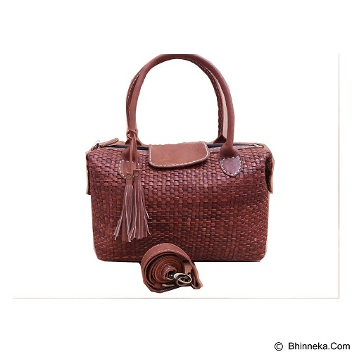 LIBERA_INDOO Longchamp Medium Anyam - Dark Brown (Merchant) - Tas Tangan Wanita