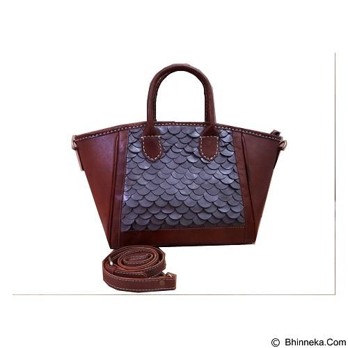 LIBERA_INDOO Tas Kulit Beauty Alena Sisik Tengah - Brown (Merchant) - Shoulder Bag Wanita