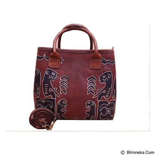 LIBERA_INDOO Tas Kulit Webe Medium Lukis Motif Asmat Nabati (Merchant) - Shoulder Bag Wanita