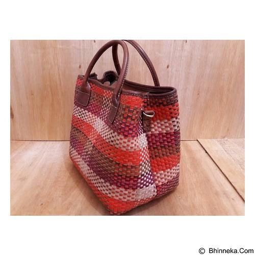 LIBERA_INDOO Tas Webe Medium Anyam Nabati - Orange (Merchant) - Shoulder Bag Wanita