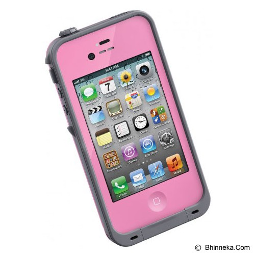 LIFEPROOF Case for Apple iPhone 4S/4 - Pink/Gray - Casing Handphone / Case