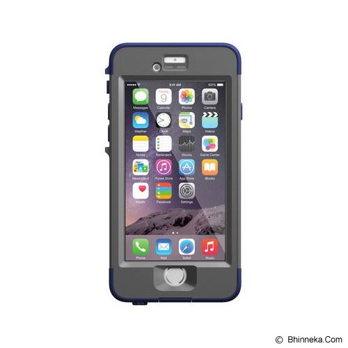 LIFEPROOF Nuud for iPhone 6 - Night Dive Blue (Dark Gray/Dark Blue) - Casing Handphone / Case