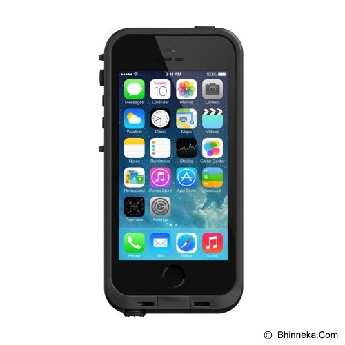 LIFEPROOF Apple iPhone 5/5s Fre Case - Black/Black EN/FR - Casing Handphone / Case