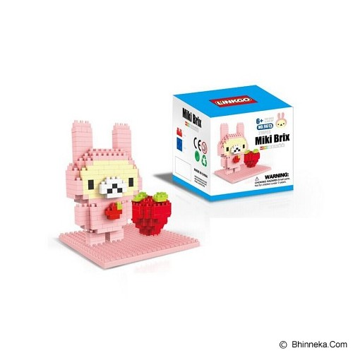 LINKGO Pink Pig n Strawberry [9613] - Building Set Fantasy / Sci-Fi