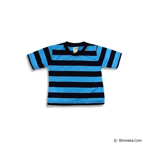 LITTLE REBELS Toddler Tee Stripe 6/12 M - Blue - Baju Bepergian/Pesta Bayi dan Anak