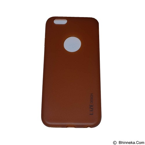 LIZE Softcase Apple iPhone 6/6s - Brown (Merchant) - Casing Handphone / Case
