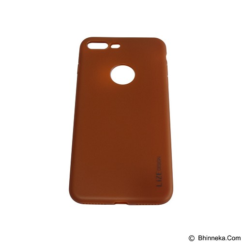 LIZE Softcase/Silicone Casing for iPhone 7G Plus - Brown (Merchant) - Casing Handphone / Case